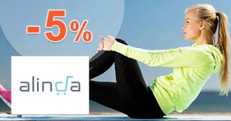 Zľavový kód -5% zľava na všetko na Alinda.sk
