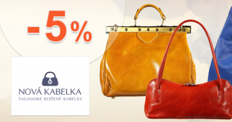 Zľavový kód -5% zľava na všetko na NovaKabelka.sk