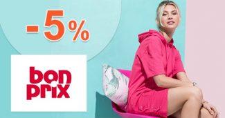 Zľavový kód -5% zľava + poštovné 0€ na BonPrix.sk