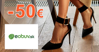 Zľavový kód -50€ na eObuv.sk