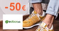 Zľavový kód -50€ zľava na eObuv.sk