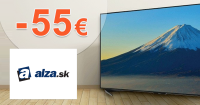 Zľavový kód -55€ zľava na televízory na Alza.sk
