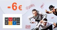 Zľavový kód -6€ zľava na všetko na Muziker.sk