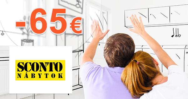 Zľavový kód -65€ zľava na nábytok na Sconto.sk