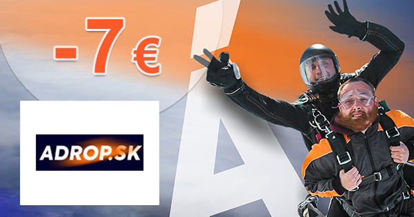 Zľavový kód -7€ na Adrop.sk + doručenie ZDARMA