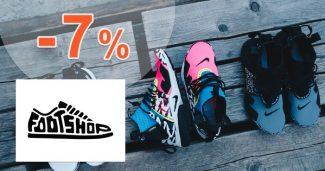 Zľavový kód -7% zľava na všetko na FootShop.sk