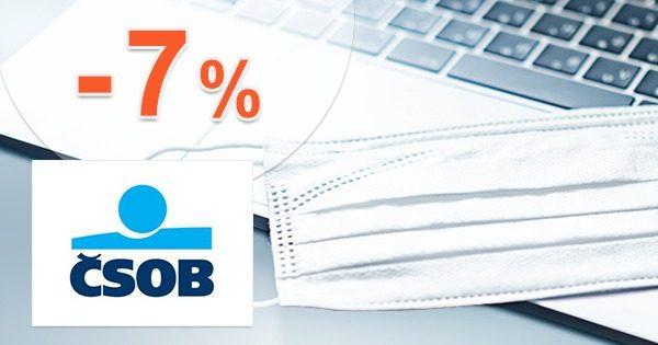 Zľavový kód -7% zľava na všetky poistenia od ČSOB