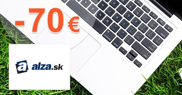 Zľavový kód -70€ zľava na notebooky na Alza.sk