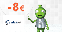 Zľavový kód -8€ výrobky Alza na Alza.sk
