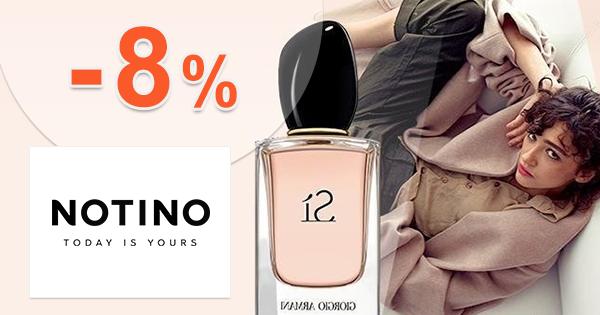 Zľavový kód -8% na Notino.sk, kupón, zľava, akcia