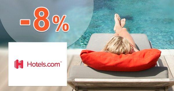 Zľavový kód -8% zľava na ubytovanie na Hotels.com