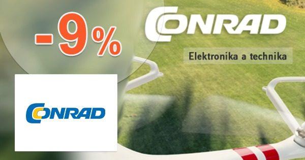 Zľavový kód -9% zľava na všetko na Conrad.sk
