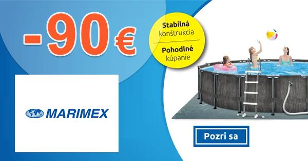 Zľavový kód -90€ zľava NA BAZÉN na Marimex.sk