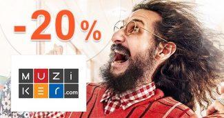 Zľavový kód až -20% zľava na tričká na Muziker.sk