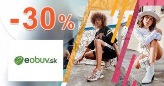 Zľavový kód do -30% zľava na obuv na eObuv.sk
