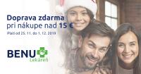 Zľavový kód na dopravu zdarma na BenuLekaren.sk