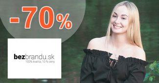 Zľavy -70% na módu bez značiek na BezBrandu.sk
