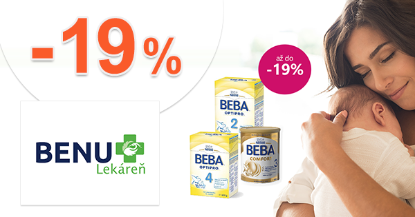 Zľavy až -19% na produkty BEBA na BenuLekaren.sk