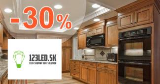 Zľavy až -30% na LED svietidlá a osvetlenie na 123led.sk
