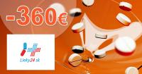 Zľavy až -360€ s kupónovou knižkou na Lieky24.sk