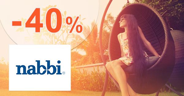 Zľavy až -40% na akciové produkty na Nabbi.sk