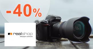Zľavy až -40% na fotoaparáty na RealShop.sk