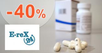 Zľavy až -40% na produkty E-REX 24 na Erex24.sk