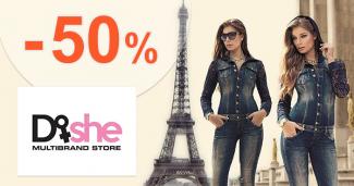 Zľavy až 50% na oblečenie pre ženy na Dishe.sk