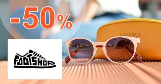 Zľavy až -50% na slnečné okuliare na FootShop.sk