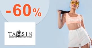 Zľavy až -60% na fitness módu na Tamsin.sk