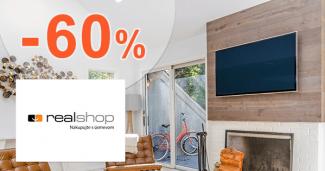 Zľavy až -60% na televízory na RealShop.sk