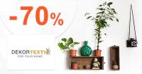 Zľavy až -70% na dekorácie na DekorTextil.sk