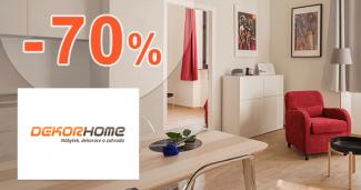 Zľavy až -70% na outlet nábytok na DekorHome.sk