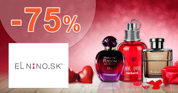 Zľavy až -75% na vône roku na Parfemy-ELNINO.sk