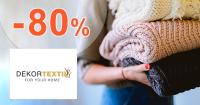 Zľavy až -80% na bytový textil na DekorTextil.sk