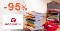 Zľavy až -95% na vybrané tituly skladom na Martinus.sk