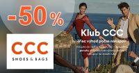 Zľavy až do -50% pre členov Klubu CCC na CCC.eu