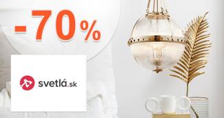 Posledné kusy až -70% zľavy a akcie na Svetla.sk