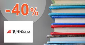 Akcie na odporúčané knihy až -40% na ArtForum.sk