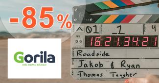 Zľavy a akcie na filmy až -85% na Gorila.sk