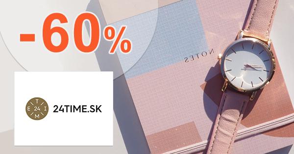 Zľavy a akcie na hodinky až -60% na 24time.sk