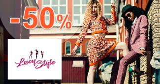 Zľavy na dámsku módu až -50% na LucyStyle.sk