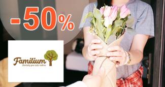 Zľavy na darčeky až -50% na Familium.sk