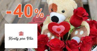 Zľavy na kytice až -40% na KvetyPreVas.sk + doručenie zdarma