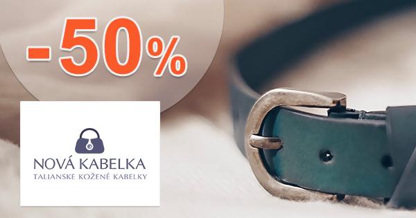 Zľavy na opasky až -50% na NovaKabelka.sk