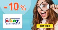 ZĽAVA -10% → EXTRA NA ELEKTRO na Okay.sk