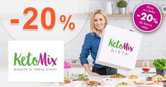ZĽAVA -20% EXTRA NA VŠETKO na KetoMix.sk