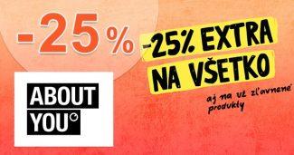 ZĽAVA -25% → EXTRA NA VŠETKO na AboutYou.sk