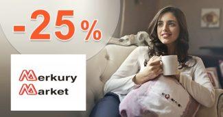 ZĽAVA -25% → NA NÁBYTOK na MerkuryMarket.sk