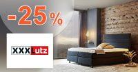 ZĽAVA -25% → NA VYBRANÝ NÁBYTOK na XXXLutz